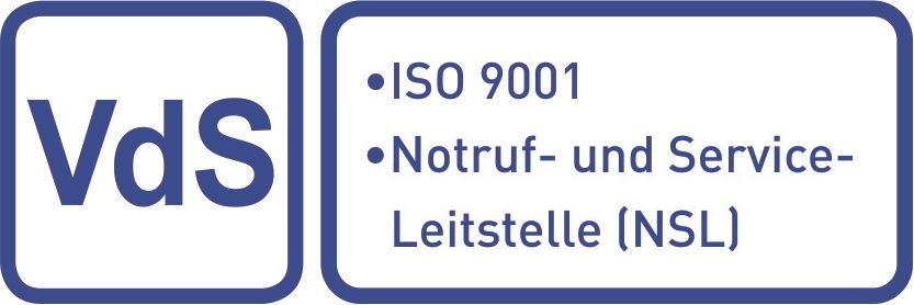 Anerkannt als Notruf- und Service-Leitstelle (NSL) und nach ISO 9001