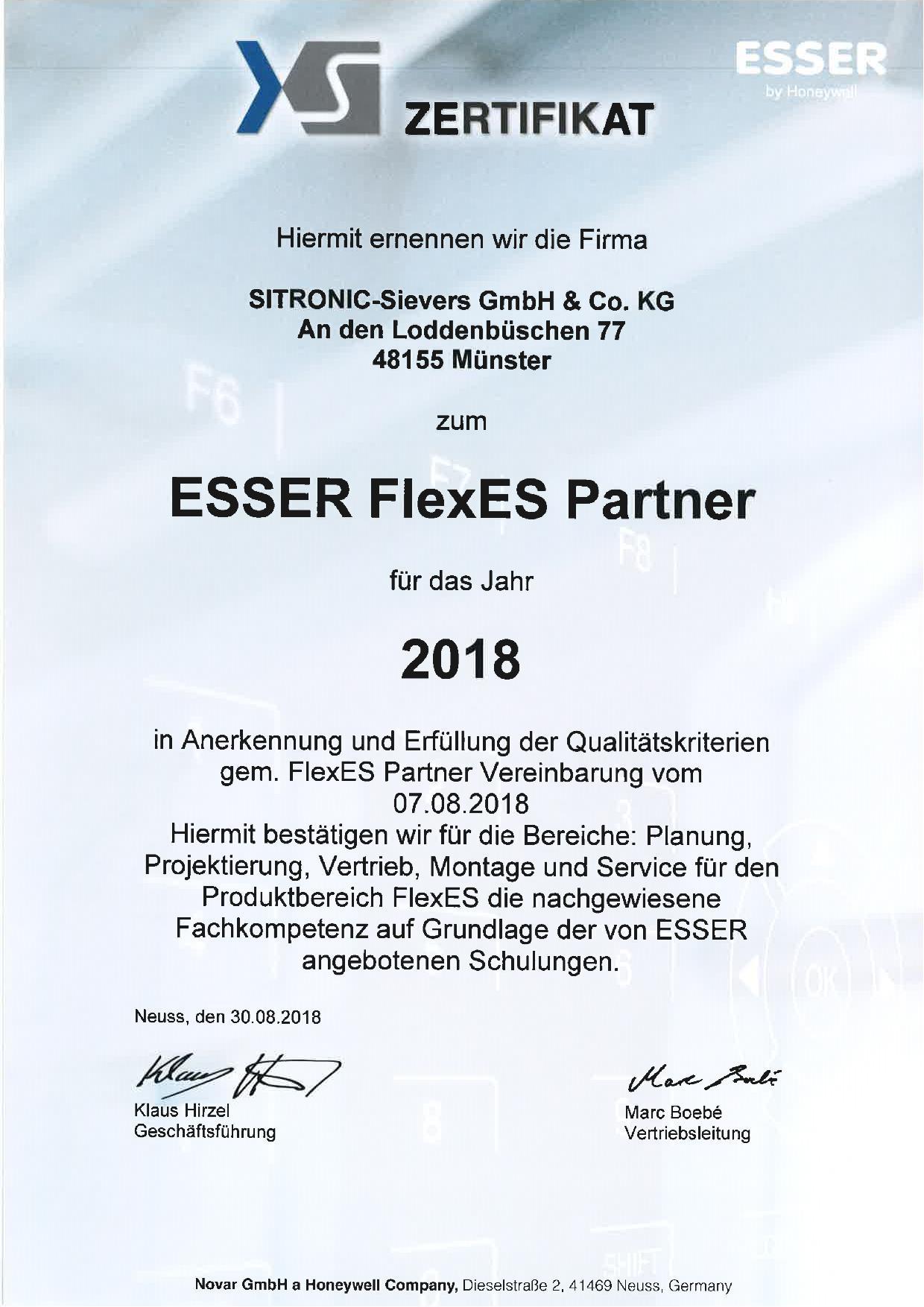 Esser FlexES (SITRONIC Münster)