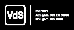 AWZ ist vom VdS zertifiziert nach VdS 3138 und DIN EN 50518 / VdS 3137
